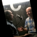 Tom McAllister and Mike Ingram recording podcast