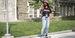a student skateboarding