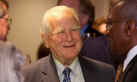 Lew Klein during an event at Temple University.