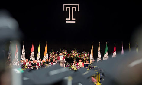 Temple's commencement ceremony
