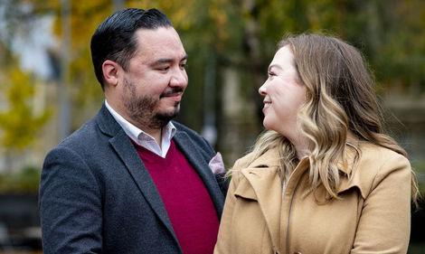 Michael Usino and Kate Christensen