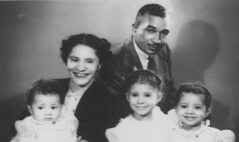 Cecil B. Moore and his wife and daughters.