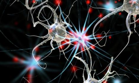 An illustration of serotonin molecules.