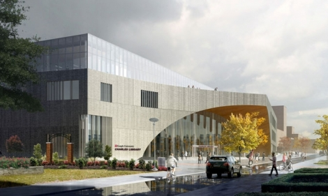 Rendering of the Charles Library