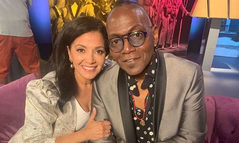 Suzette Charles with bassist Randy Jackson.