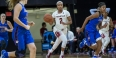 Temple women's basketball player Feyonda Fitzgerald playing against DePaul.