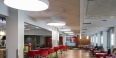 LED lighting in the Student Center food court