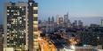 Morgan Hall and the Philadelphia skyline