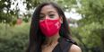 Marnice Charles from Klein College wearing a Temple branded mask.