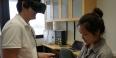 Students using virtual reality technology