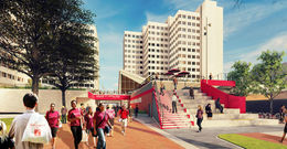 rendering of CLA construction project