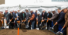 groundbreaking for Laborers' District Council Training and Learning Center
