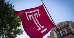 Flag with Temple T