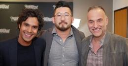 Kunal Nayyar with manager Jason Kim and agent Jonathan Howard