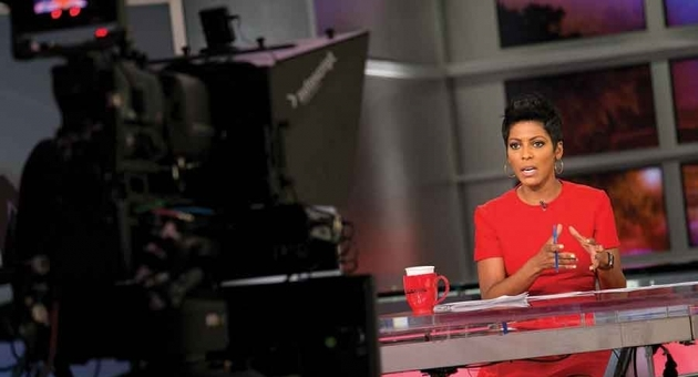 Tamron Hall delivers the news in MSNBC's 'NewsNation' studio