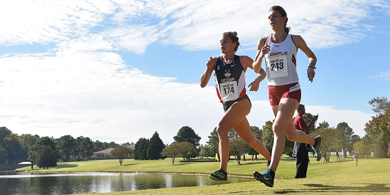 Fernandez racing to a win in the American Athletic Conference championship.