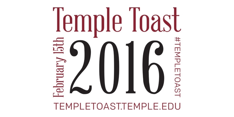 Logo for the 2016 Temple Toast.