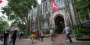 Students outside Sullivan Hall on Temple's Main Campus.