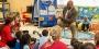 Mayor Michael Nutter reads a children's book in a Philadelphia classroom.