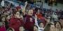 Temple alumnus Bill DeSio cheering in the stands.