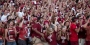 Owls fans dressed in Cherry and White