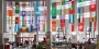 Student Center lobby with international flags