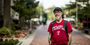 Brian Mengini standing along Liacouras Walk