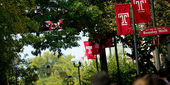 students walking on Temple's Main Campus