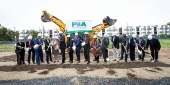 Local leaders breaking ground at the Norris Homes development site