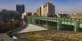 Charles Library's green roof, part of Temple's continued sustainability efforts.