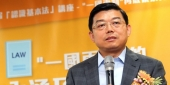 Zhenmin Wang giving a speech in China.