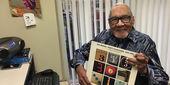 Jazz host Bob Perkins in his office at WRTI