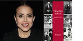 """Image of Author Ronnyjane Goldsmith and the """"Temple Made: Profiles in Grit"""" book cover."""
