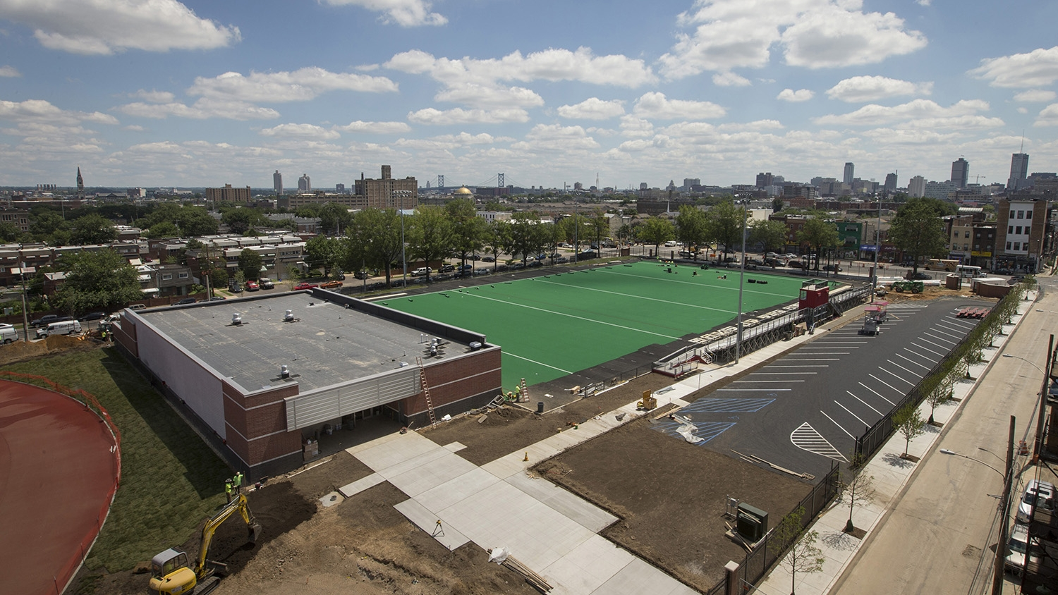 The new field hockey and lacrosse field.