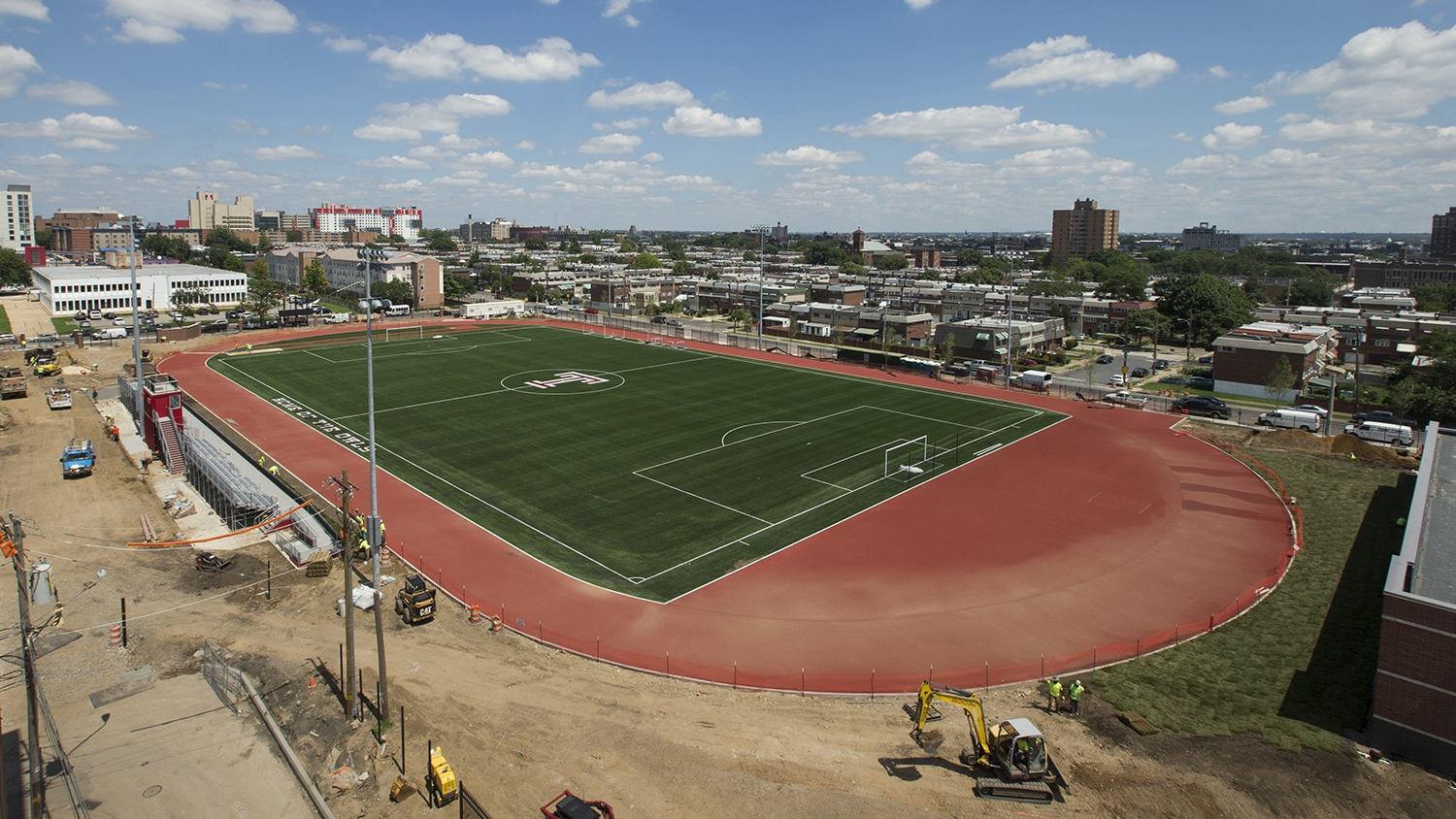 The new running-track and soccer field.