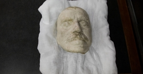 A plaster mold of Russell Conwell's face