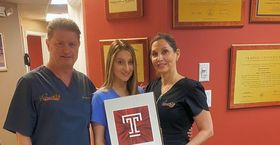 Temple dentistry student Natasha Rockwell and her parents.
