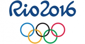 """A """"Rio 2016"""" graphic with the Olympic rings."""